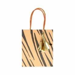 8 sacs en papier d'anniversaire - motifs animaux de la savane avec dorure - méri méri