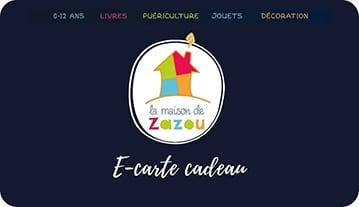 e-carte cadeau La Maison de Zazou