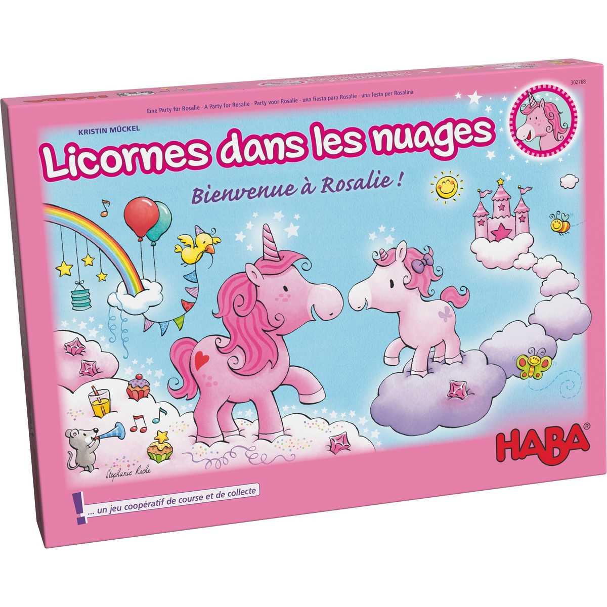 """Résultat de recherche d'images pour """"Licornes Dans Les Nuages – Bienvenue À Rosalie !, 302768, Haba"""""""