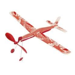 Avion rouge à élastique Les petites merveilles