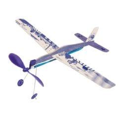 Avion bleu à élastique Les petites merveilles