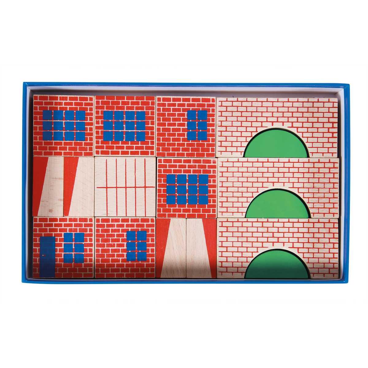 jeu de construction 40 pi ces dans la ville 720404 m moire d 39 enfant moulin roty la maison. Black Bedroom Furniture Sets. Home Design Ideas