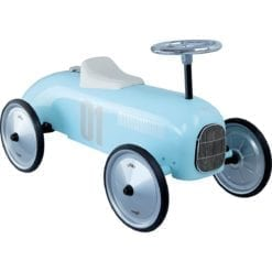 Porteur voiture vintage bleu tendre vilac