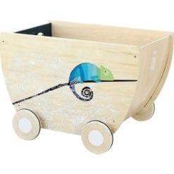 Chariot à jouets sous la canopée vilac