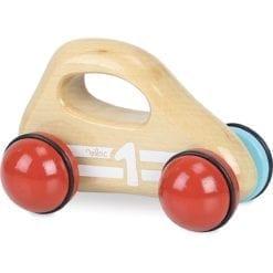Voiture bébé en bois naturel fsc fabriqué en france vilac