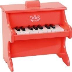 Instrument de musique piano crazy orange 18 touches avec partitions vilac