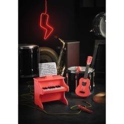 Instrument de musique en bois fsc maracas crazy orange vilac