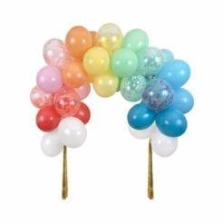 arche de ballons de fête - arc-en-ciel - méri méri