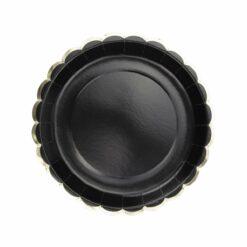 assiettes noir et or  - tim&puce factory - la maison de zazou