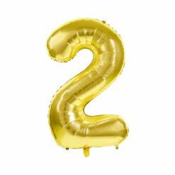 ballon mylar or - 100 cm ballon chiffre 2 - tim&puce factory - la maison de zazou
