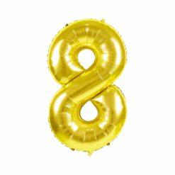 ballon mylar or - 100 cm ballon chiffre 8 - tim&puce factory - la maison de zazou