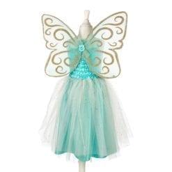 robe déguisement 5-7 ans - josiane robe et ailes - couleur menthe -  souza