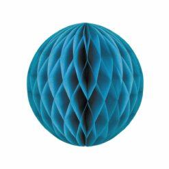 décoration - boule alveolee bleu glacier 30cm  - tim&puce factory - la maison de zazou