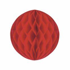décoration - boule alveolee rouge 20cm  - tim&puce factory - la maison de zazou