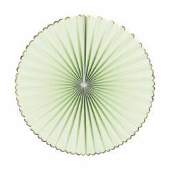 décoration - set 3 eventails vert et or  - tim&puce factory - la maison de zazou