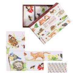 Domino-Puzzle des animaux - Le jardin du moulin - Moulin Roty