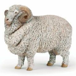 figurine animaux de la ferme - bélier - la vie a la ferme - papo