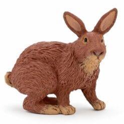 figurine animaux de la ferme - lapin marron - la vie a la ferme - papo