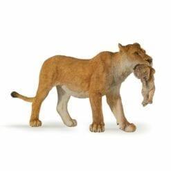 figurine animaux de la jungle - lionne avec lionceau - la vie sauvage - papo