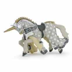 figurine animaux imaginaires - cheval licorne - le médiéval - fantastique - papo