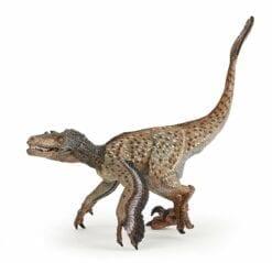 figurine dinosaure vélociraptor à plumes - les dinosaures - papo