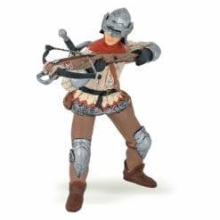 figurine du monde médiéval  - arbaletrier rouge - le médiéval - fantastique - papo