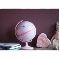 globe monde rose lumineux- amadeus