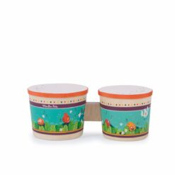 instruments de musique tambour - bongo - en bois  - dans la jungle - moulin roty - la maison de zazou