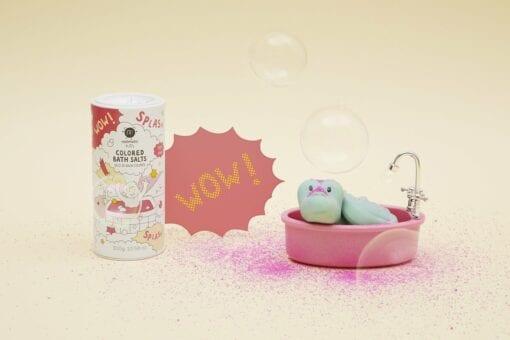 jeu de bain crépitant - sel de bain - rose - nailmatic