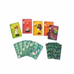 jeu de cartes - jeu de bataille - dans la jungle - moulin roty - la maison de zazou