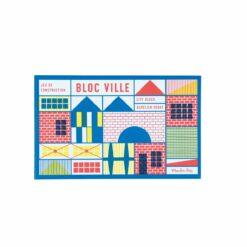 jeu de construction (40 pièces) - dans la ville  - cn - moulin roty - la maison de zazou