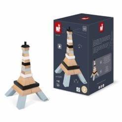 jeu de construction en bois - tour eiffel à construire -1er age et petite enfance - janod