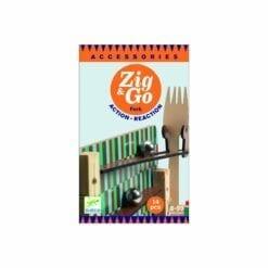 jeu de construction en bois - zig & go - fork - 14 pcs - construction - djéco
