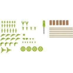 jeu de construction terra kids - connectors kit technique - haba