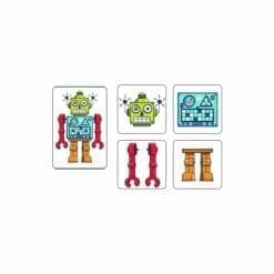 jeu de mémoire éducatif - mémo robots - jeux - djéco