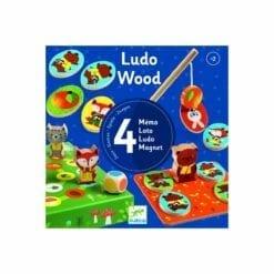 jeu éducatif en bois - coffret 4 jeux - ludowood - jeux  educatifs bois - djéco