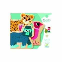 jeu magnétique en bois - mixanimo - tableau et magnets - jeux  educatifs bois - djéco