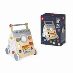 jouet d'éveil - chariot multi-activités sweet cocoon -1er age et petite enfance - janod
