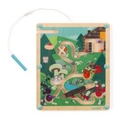 jouet d'éveil en bois certifié fsc - labyrinthe à billes foret - janod