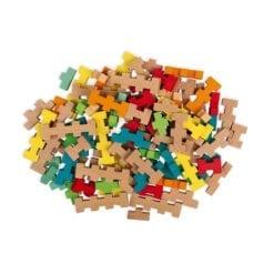 jouet d'éveil en bois certifié fsc - set de construction 100 pcs - janod