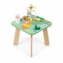 jouet d'éveil - table d'activités jolie prairie -1er age et petite enfance - janod