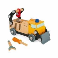 jouet d'imitation en bois 3 ans - camion de chantier brico'kids en bois  -etablis & outils - janod