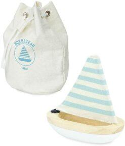 jouet de bain 3 ans - petit voilier blanc -vilac - la maison de zazou