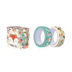 loisir créatif - 2 rouleaux de masking tape : 2 modèles renard et licorne - janod