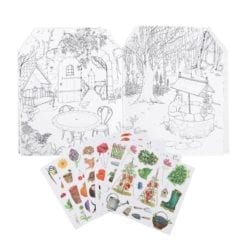 Loisir créatif - Cahier stickers Le jardinier - Le jardin du moulin - 20 pages (emb/6) - Moulin Roty