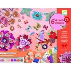 loisir créatif - coffrets multi-activités le jardin de fleurs - design by - djéco