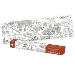 Loisir créatif - Coloriage géant Le jardinier - Le jardin du moulin - Moulin Roty