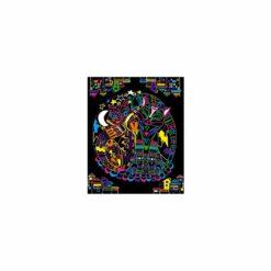 loisir créatif - coloriages + feutres fluo animaux - kaloo - la maison de zazou