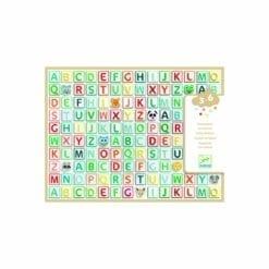 loisir créatif djeco - gommettes alphabet - les petits cadeaux - djéco