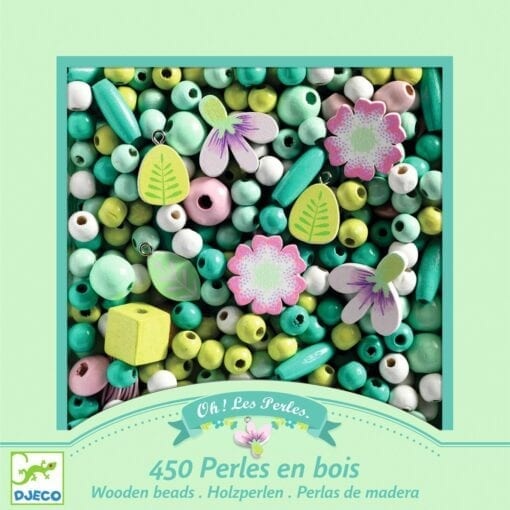 loisir créatif djeco - perles en bois oiseaux - design by - djéco